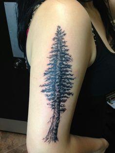 Tree tattoo by Duckie @ Anchor Bay Tattoo Hayward, Ca