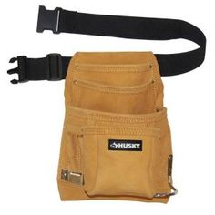 Husky 10.5 in. 10-Pocket Suede Leather Carpenter Tool Bag HD413362 at The Home Depot - Mobile