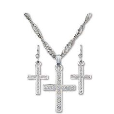Montana Silversmiths Women's Cross Jewelry Set