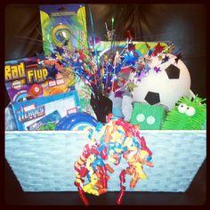 Little boy fun gift basket