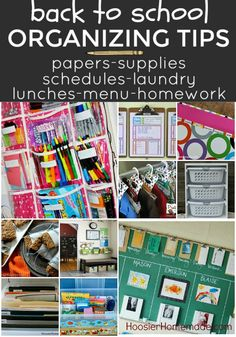 BACK TO SCHOOL ORGANIZING TIPS -- Everything you need to get and KEEP yourself organized for the Back to School…