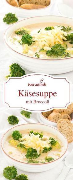 Suppen Rezepte: Leckere Käsesuppe  mit Broccoli - das Rezept für diese Suppe ist von herzelieb.  #foodblog #foodblogger #suppenzeit