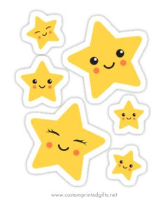 Cute kawaii star sticker collection