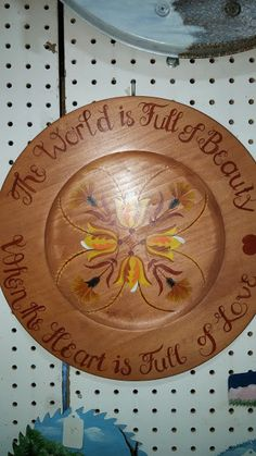 Wooden Tole-Painted Plate by ToleNThings on Etsy