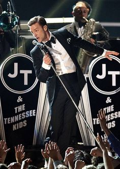 Justin Timberlake performing at Grammy's 2013