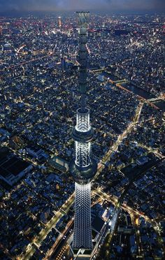 Sky Tree in Tokyo, currently the highest tower in the world (634 meters, was built between 2008 and 2012)