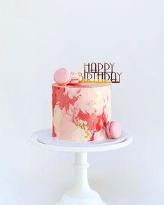 16th Birthday Cake For Girls, Modern Birthday Cakes, Pretty Birthday Cakes, Pretty Cakes, Cute Cakes, Mini Cakes, Cupcake Cakes, Ganache, Un Cake