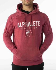 Heathered Maroon Hoodie from Alphalete Athletics