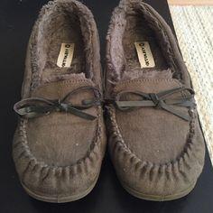 Moccasin's Lightly worn, bit too big on me. Shoes Moccasins