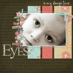 scrapbooking idea ~ Eyes ~ or tear pic