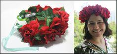 Maxi Coroa de Rosas Vermelhas Preço promocional de lançamento, válido até 21/01. De R$ 52 por R$ 48. Corre lá! http://www.elo7.com.br/maxi-coroa-de-rosas-vermelhas/dp/4B41F6