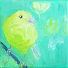 RESERVED TO ANNELIEN canary bird. original painting. by ravenzwART, $15.00