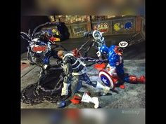 An ambush that fatally wounded Captain America. Come join me and check out my toy photography set up for my round 3 Photo Kombat challenge sponsored by Articulated Comic Book Art (ACBA).