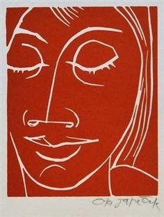Face of the girl By Ota Janeček
