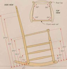 Shaker Rocking Chair Rails