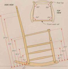 Modren Wooden Rocking Chair Plans Rails And Inspiration Decorating