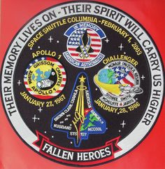 Apollo 1 + Space Shuttle Columbia & Challenger Embroidered Tribute Art Patch NEW - Astronomy Apollo 1, Apollo Space Program, Nasa Space Program, Nasa Missions, Apollo Missions, Sts 107, Constellations, Space Patch, Nasa Patch