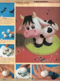 МК лепка Корова, Бык, bull, cow, kráva,Kuh, vache, mucca, vaca - Страница 2 - Мастер-классы по украшению тортов Cake Decorating Tutorials (How To's) Tortas Paso a Paso