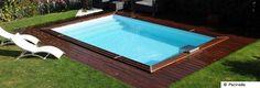 Petit bassin en ipé modèle R15 de Piscinelle