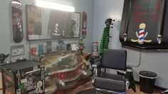 CUTTHROATCURTIS Barber Station Pin-Up Garage 107 E Grand Ave  Escondido Ca 92025