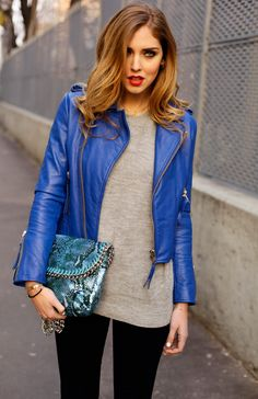 Electric Blue Jacket e0Gxso