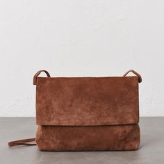 OVERSIZED FOLD-OVER BAG - TERRACOTTA