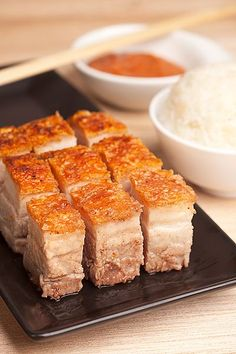 Super crispy skin from pork belly. An scrumptious Chinese delicacy. Drool.