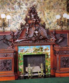 carved mantel from Chateau-sur-Mer  in The Breakers (Newport, RI)