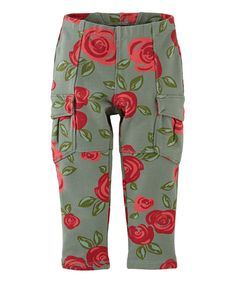 Look at this Cedar Floral Rosig Cargo Pants - Girls on #zulily today!