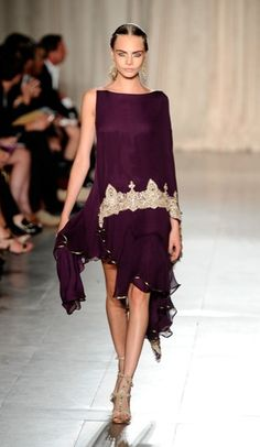 Dress from Marchesa Sari-Inspired Spring 2013 Collection –Beautiful Color!