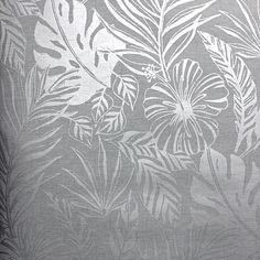 New Season Wallpaper Metallic Wallpaper, Grey Wallpaper, Wallpaper Ideas, Tropical Style, Going Gray, Wallpaper Online, Wonderwall, Designer Wallpaper, Color Inspiration