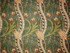 'Daffodil' wallpaper design by John Henry Dearle, produced in 1891.