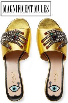 Gucci Wangy Jeweled Mule Slide