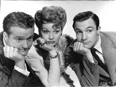Red Skelton, Lucille Ball, and Gene Kelly