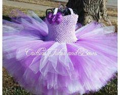 ORCHID RUFFLES. Tiered Tutu Dress. Birthday Dress. by ElsaSieron