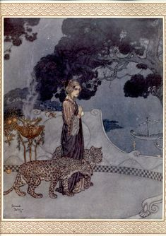 Circe, the Enchantress - Women of Myth and Legend; illustration for a poem by Andrew Dumas, Christmas 1911