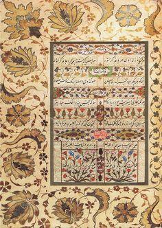 Unicef Karte - Divan-i Muhibbi - Kara Memi, 1566 Illumination Art, Persian Pattern, Diy Resin Art, Arabic Art, Turkish Art, Animal Fashion, Calligraphy Art, Visual Communication, Bird Art