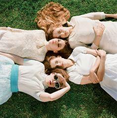 Cast of Girls HBO. Lena Dunham, Allison Williams, Zosia Mamet & Jemima Kirke. Photography by Autumn de Wilde.