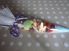 party bag pre filled sweet cones . for the kiddos at wedding