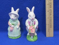Salt and Pepper Shakers | Made out of a ceramic material with an adorable bunny rabbit design.