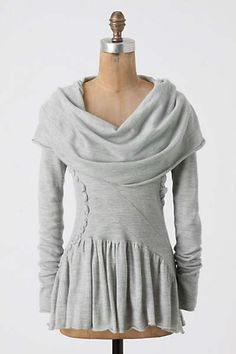 Sweat Shirt Sweater in Pale Grey | Anthropologie - Winter Beauty Pullover