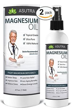2 Bottle Value Pack Pure Zechstein Magnesium Oil Spray Triple Filtered for LESS ITCH LESS STING Effective Rapid Transdermal Absorption Ultra Pure Potent FREE Magnesium EBook ** Check out this great product. (This is an affiliate link) Topical Magnesium, Best Magnesium, Magnesium Bath, Magnesium Benefits, Headache Relief, Pain Relief, Stress Relief, Detox Your Armpits, Magnesium Oil Spray
