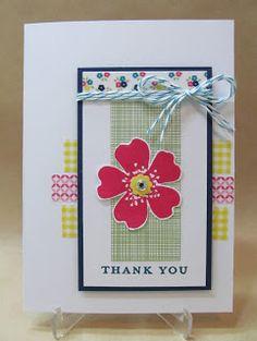 Savvy Handmade Cards: Washi Tape Thank You Card
