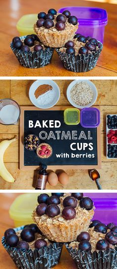 Busy mornings? Then you'll love these baked oatmeal cups.  // breakfast // recipe // recipes // fit food // eat clean // diet // nutrition // healthy // food // fitspo // fitspiration