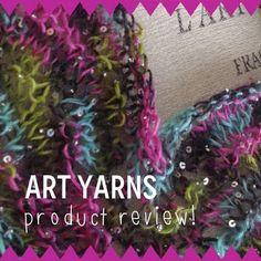 NobleKnits Knitting Blog: Yarn Review: ArtYarns Beaded Silk Mohair & Sequins Yarn