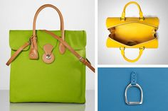 From tangerine to kiwi, exuberant shades cast the iconic style  of Ralph Lauren's handbags in a brilliant new light