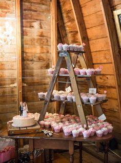 présentoir à cupcake rustic chic