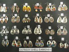 ostrich egg earrings - Buscar con Google