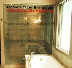 Upgrade your bathroom with custom shower doors &/or custom mirrors! #CrystalGlass For ALL your glass needs!  http://www.CrystalGlass.ca/ https://www.FaceBook.com/CrystalGlassltd https://Twitter.com/CrystalGlassLTD https://www.YouTube.com/user/crystalglassltd