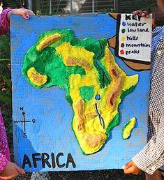 África 3D Sal Dough Mapa-Kid World Citizen